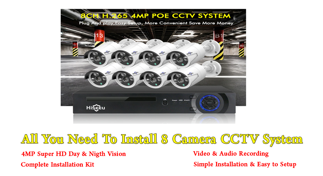 4MP 8 Channel CCTV System