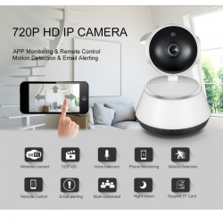 Wide Angle Indoor Night Visoion Home Security Surveillance 720P HD Wireless Wifi IP Camera 3.6mm Lens